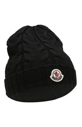 Детского шерстяная шапка MONCLER ENFANT черного цвета, арт. E2-954-00110-05-04S02 | Фото 1