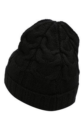 Детского шерстяная шапка MONCLER ENFANT черного цвета, арт. E2-954-00110-05-04S02 | Фото 2