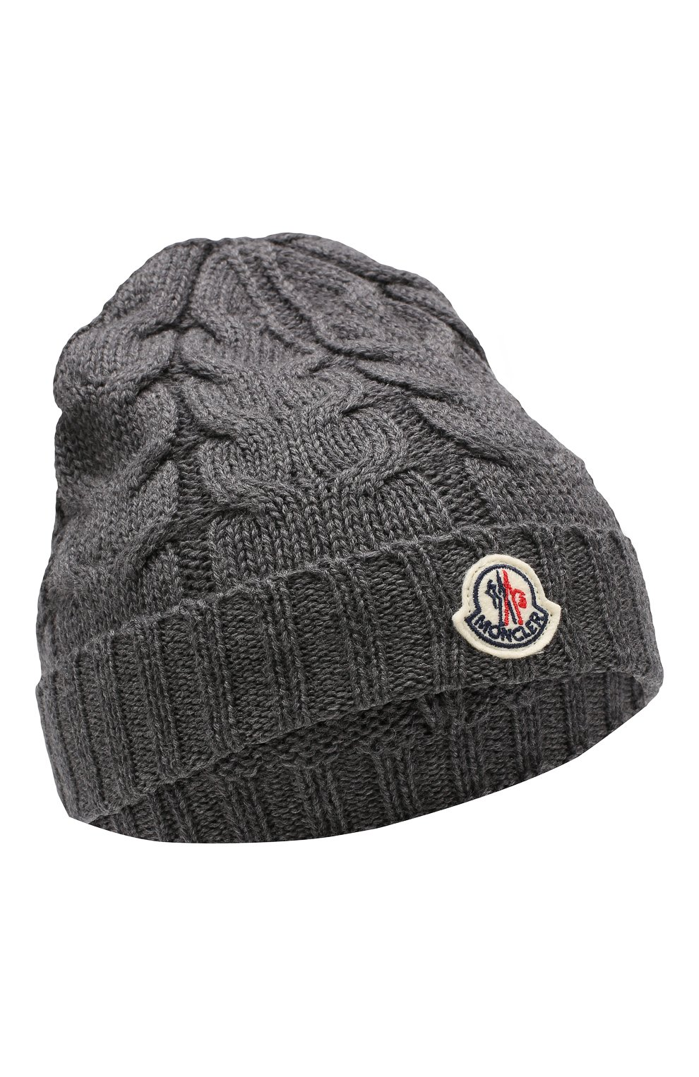 Детского шерстяная шапка MONCLER ENFANT серого цвета, арт. E2-954-00110-05-04S02 | Фото 1