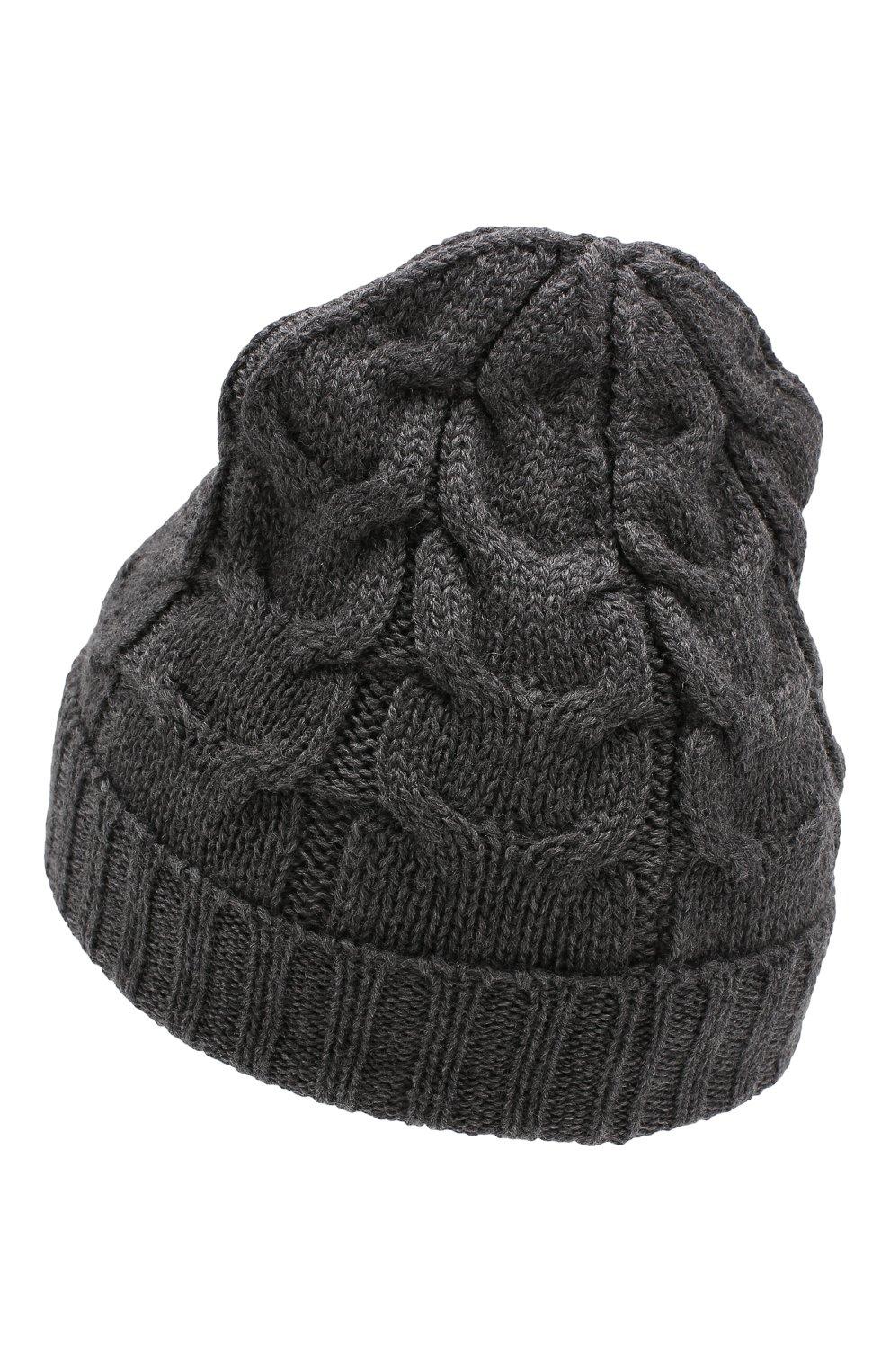 Детского шерстяная шапка MONCLER ENFANT серого цвета, арт. E2-954-00110-05-04S02 | Фото 2