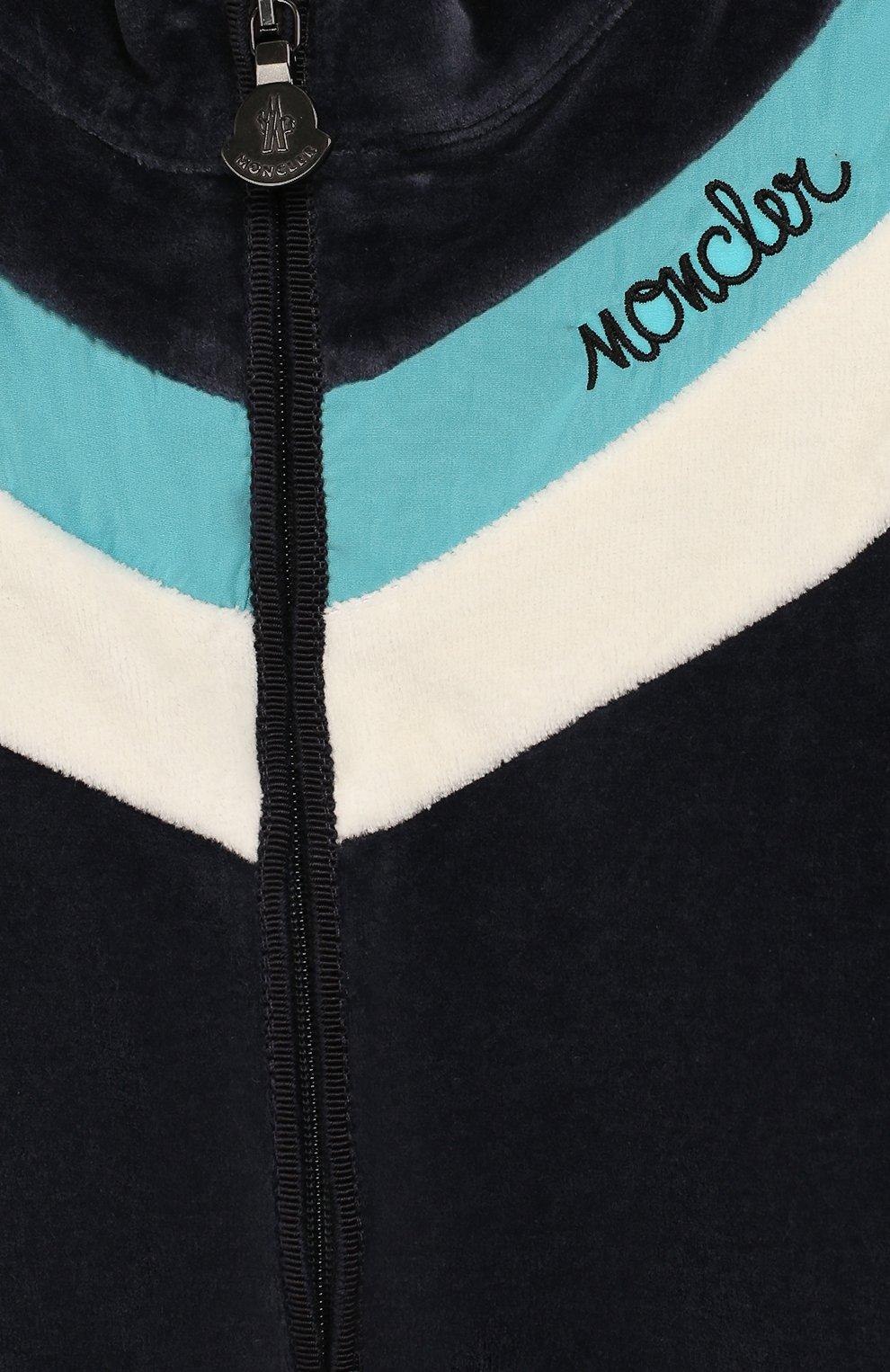 Детский комплект из кардигана и брюк MONCLER ENFANT синего цвета, арт. E2-951-88599-50-8999Y | Фото 6