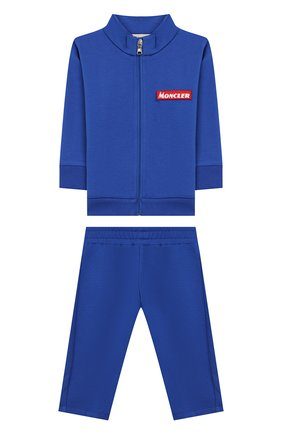 Детский комплект из кардигана и брюк MONCLER ENFANT синего цвета, арт. E2-951-88140-00-80996 | Фото 1