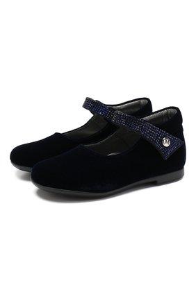 Детские туфли с застежкой велькро MISSOURI синего цвета, арт. 4480/18-26 | Фото 1