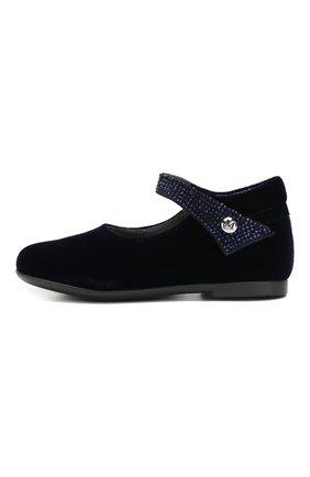 Детские туфли с застежкой велькро MISSOURI синего цвета, арт. 4480/18-26 | Фото 2