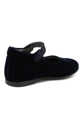 Детские туфли с застежкой велькро MISSOURI синего цвета, арт. 4480/18-26 | Фото 3