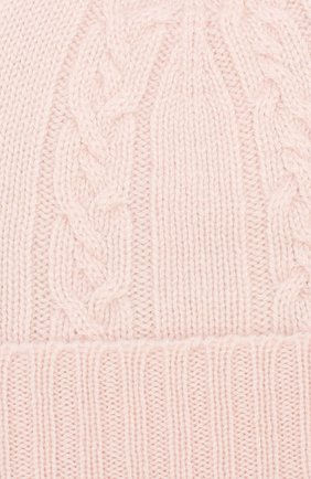 Детского кашемировая шапка с меховым помпоном LORO PIANA светло-розового цвета, арт. FAI7330 | Фото 3 (Материал: Кашемир, Шерсть; Статус проверки: Проверено, Проверена категория)