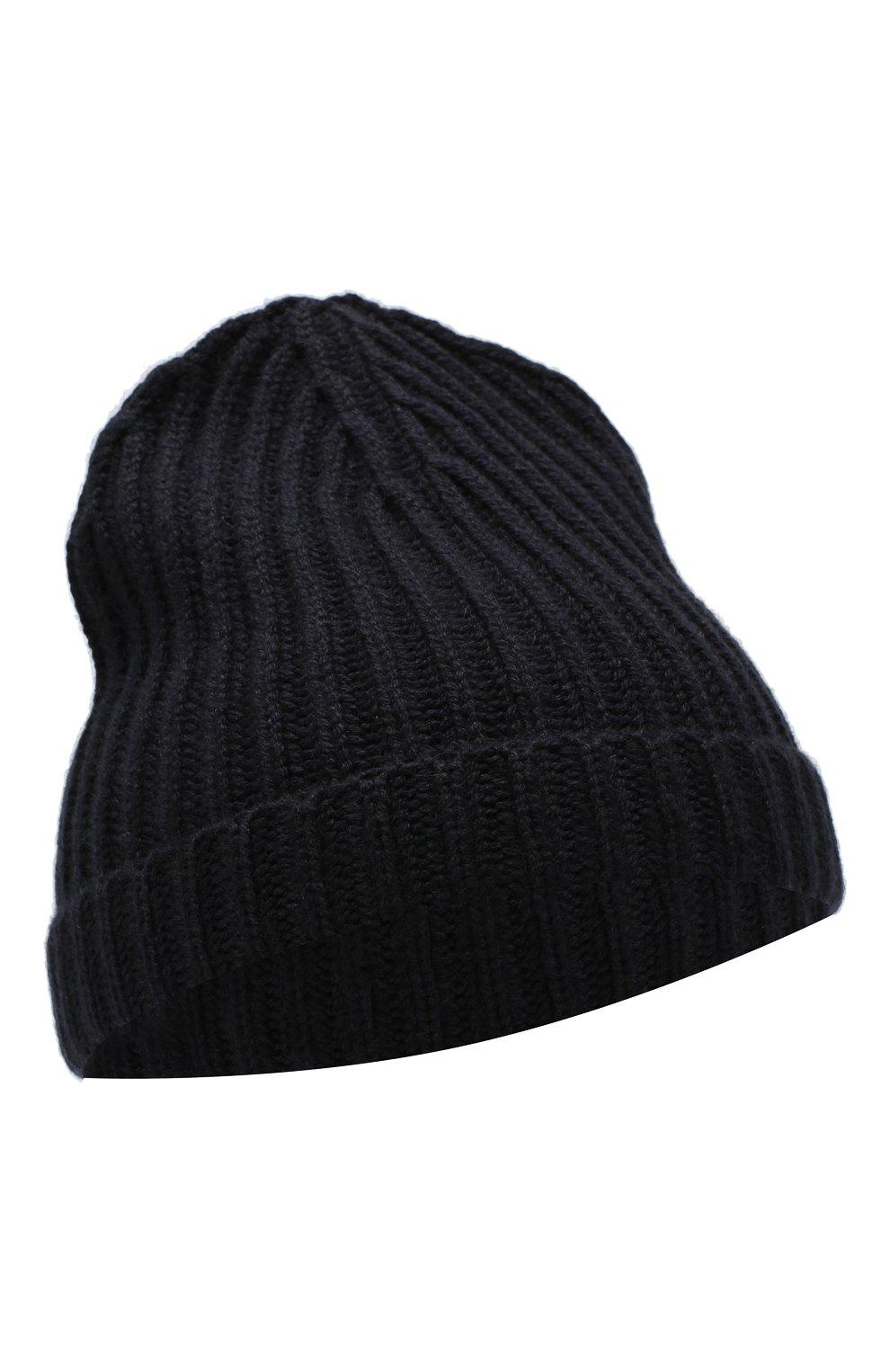 Детского кашемировая шапка LORO PIANA темно-синего цвета, арт. FAF8492 | Фото 1 (Материал: Кашемир, Шерсть; Статус проверки: Проверено)