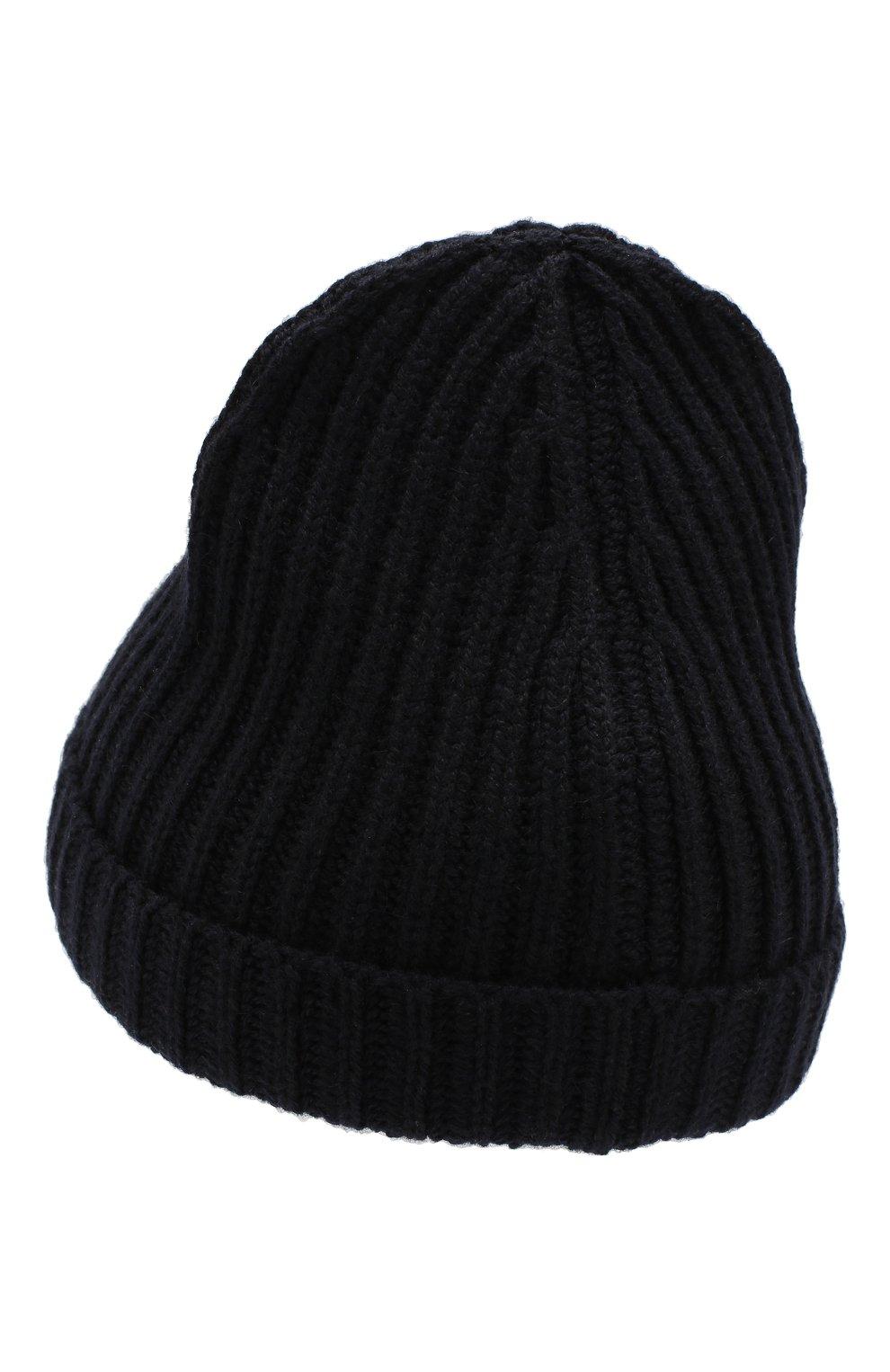 Детского кашемировая шапка LORO PIANA темно-синего цвета, арт. FAF8492 | Фото 2 (Материал: Кашемир, Шерсть; Статус проверки: Проверено)