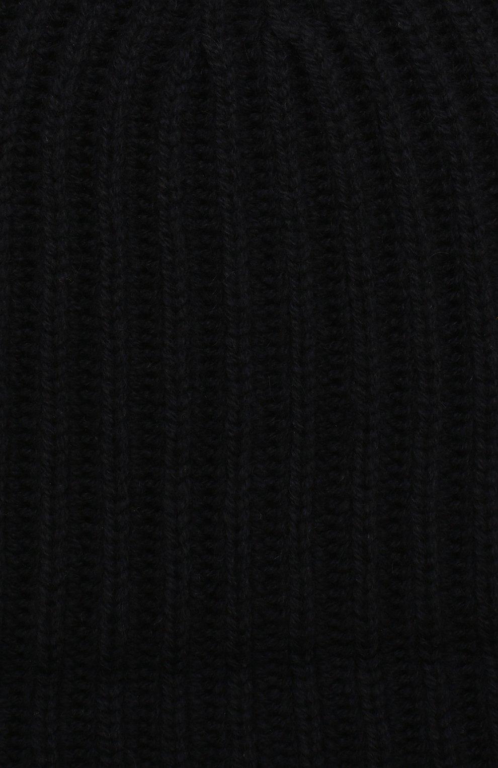 Детского кашемировая шапка LORO PIANA темно-синего цвета, арт. FAF8492 | Фото 3 (Материал: Кашемир, Шерсть; Статус проверки: Проверено)
