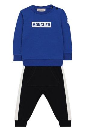 Детский комплект из свитшота и брюк MONCLER ENFANT синего цвета, арт. E2-951-88139-05-V8086 | Фото 1