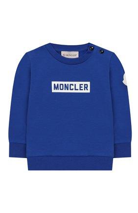 Детский комплект из свитшота и брюк MONCLER ENFANT синего цвета, арт. E2-951-88139-05-V8086 | Фото 2