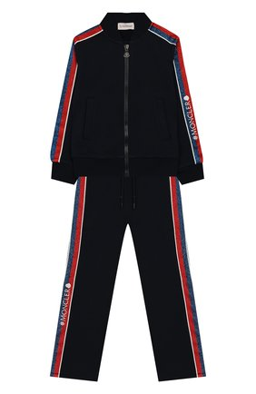 Детская комплект из кардигана и брюк MONCLER ENFANT синего цвета, арт. E2-954-88596-50-80996/4-6A | Фото 1