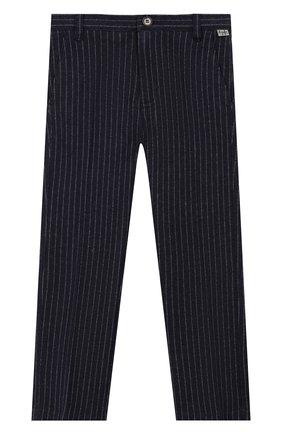 Детские хлопковые брюки IL GUFO темно-синего цвета, арт. A19PL206M1075/2А-4А | Фото 1