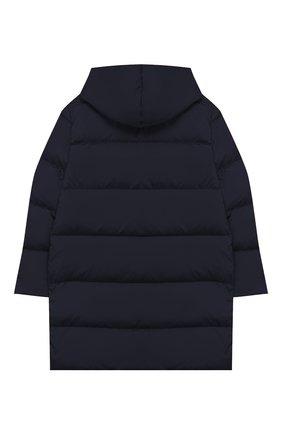 Детского пуховое пальто с капюшоном IL GUFO темно-синего цвета, арт. A19GP233N0031/10А-12А | Фото 2