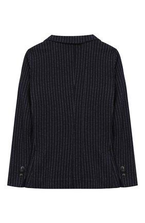 Детский двубортный пиджак из хлопка IL GUFO темно-синего цвета, арт. A19BF038M1075/5А-8А | Фото 2