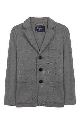 Детский хлопковый пиджак IL GUFO серого цвета, арт. A19BF011M5031/5А-8А | Фото 1