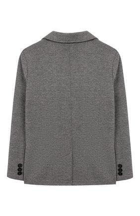 Детский хлопковый пиджак IL GUFO серого цвета, арт. A19BF011M5031/5А-8А | Фото 2