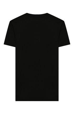 Детская хлопковая футболка EMPORIO ARMANI черного цвета, арт. 6G4TA7/1J00Z   Фото 2