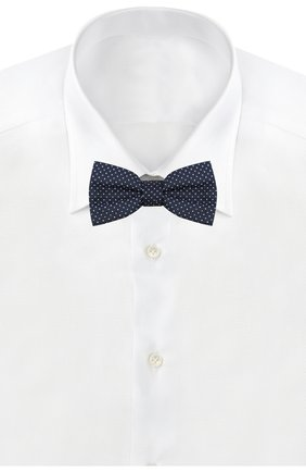 Детский шелковый галстук-бабочка DAL LAGO синего цвета, арт. N301/7328/III | Фото 2