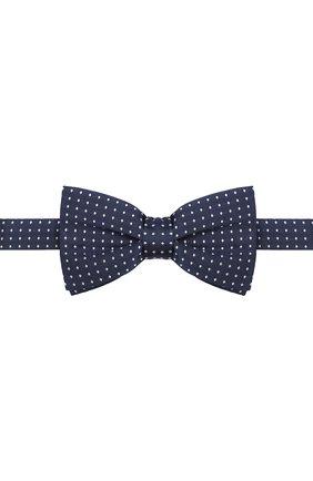 Детский шелковый галстук-бабочка DAL LAGO синего цвета, арт. N301/7328/III | Фото 1