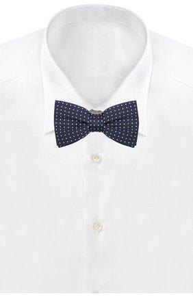 Детский шелковый галстук-бабочка DAL LAGO синего цвета, арт. N301/7328/II | Фото 2