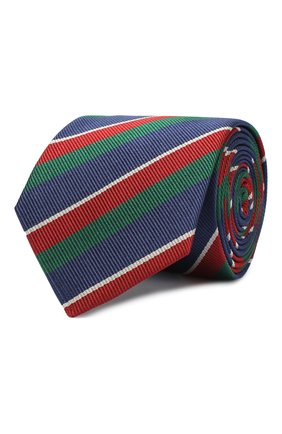Детский шелковый галстук DAL LAGO зеленого цвета, арт. N300/7744/II | Фото 1