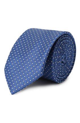 Детский шелковый галстук DAL LAGO голубого цвета, арт. N300/7328/III | Фото 1