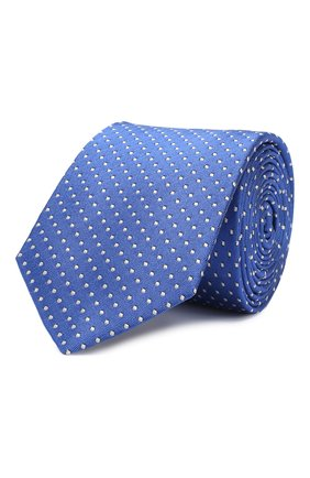 Детский шелковый галстук DAL LAGO голубого цвета, арт. N300/7328/II | Фото 1