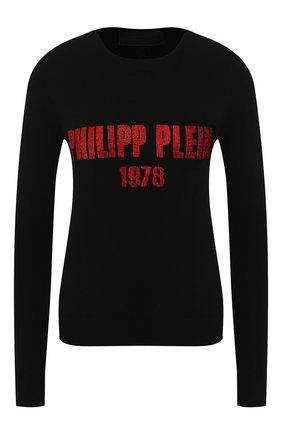 Женская кашемировый пуловер PHILIPP PLEIN черного цвета, арт. WJO0471 | Фото 1