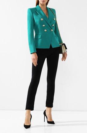 Женский шерстяной жакет BALMAIN зеленого цвета, арт. SF17176/167L | Фото 2