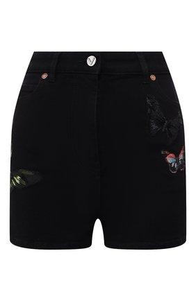 Женские джинсовые шорты VALENTINO черного цвета, арт. SB3DD08Z45M | Фото 1