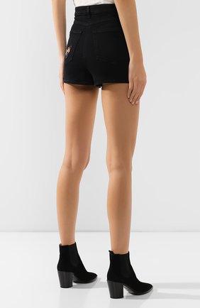 Женские джинсовые шорты VALENTINO черного цвета, арт. SB3DD08Z45M   Фото 4