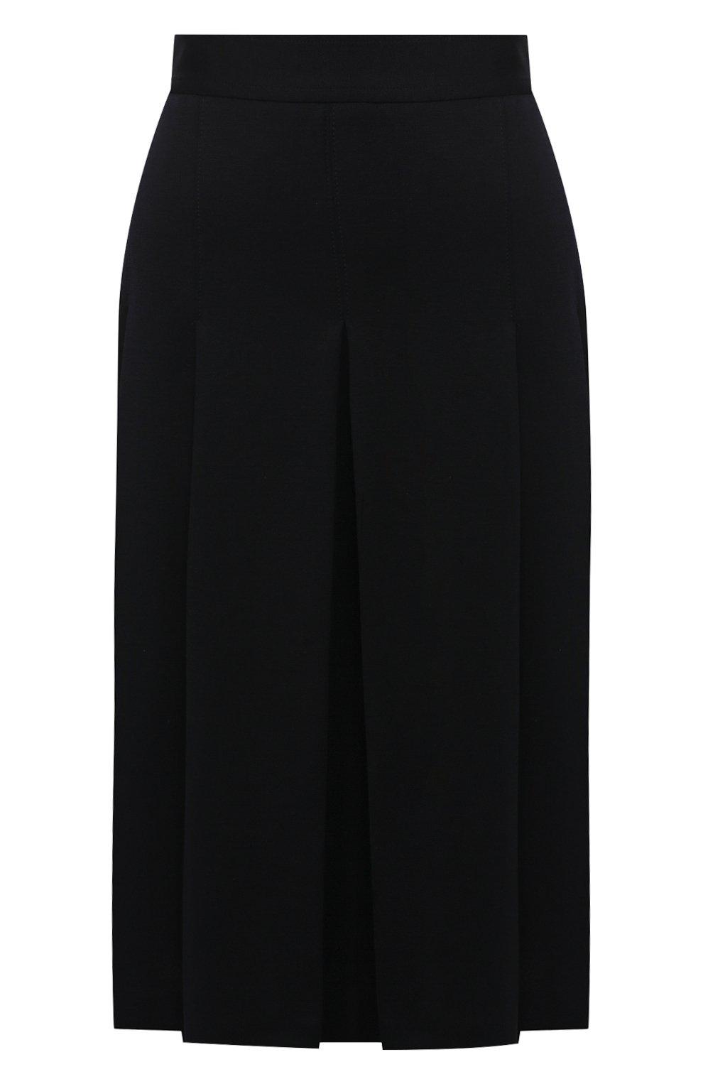Женская шерстяная юбка LORO PIANA темно-синего цвета, арт. FAI7957   Фото 1