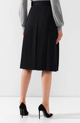 Женская шерстяная юбка LORO PIANA темно-синего цвета, арт. FAI7957   Фото 4