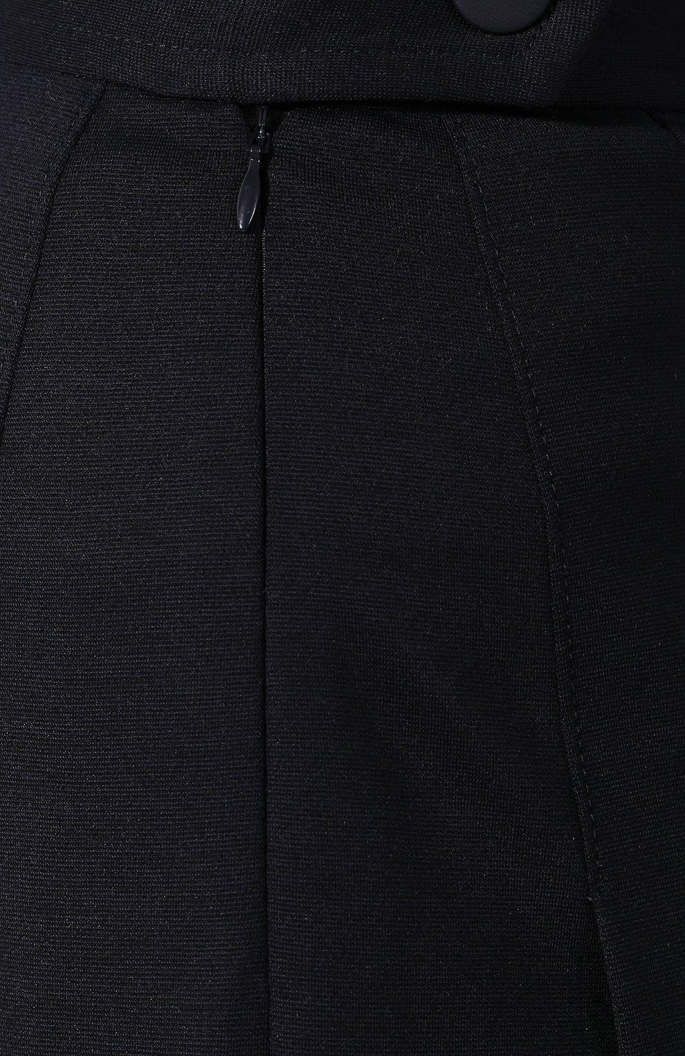 Женская шерстяная юбка LORO PIANA темно-синего цвета, арт. FAI7957   Фото 5