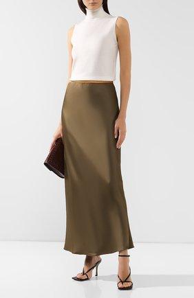 Женская юбка из вискозы HELMUT LANG хаки цвета, арт. J05HW304 | Фото 2