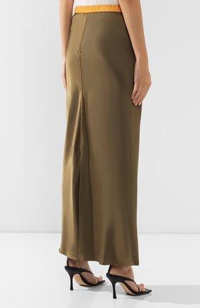 Женская юбка из вискозы HELMUT LANG хаки цвета, арт. J05HW304 | Фото 4