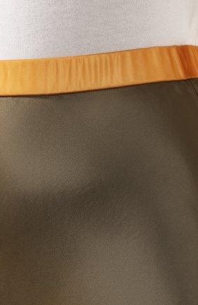 Женская юбка из вискозы HELMUT LANG хаки цвета, арт. J05HW304 | Фото 5