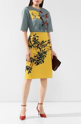 Женская юбка с принтом DRIES VAN NOTEN желтого цвета, арт. 192-30824-8410   Фото 2