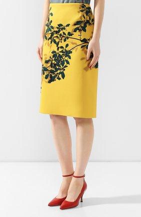 Женская юбка с принтом DRIES VAN NOTEN желтого цвета, арт. 192-30824-8410   Фото 3