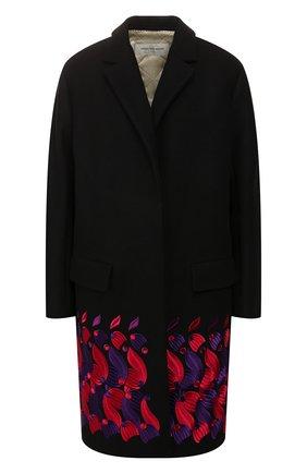 Женское шерстяное пальто DRIES VAN NOTEN черного цвета, арт. 192-30276-8211 | Фото 1