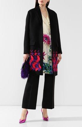 Женское шерстяное пальто DRIES VAN NOTEN черного цвета, арт. 192-30276-8211 | Фото 2