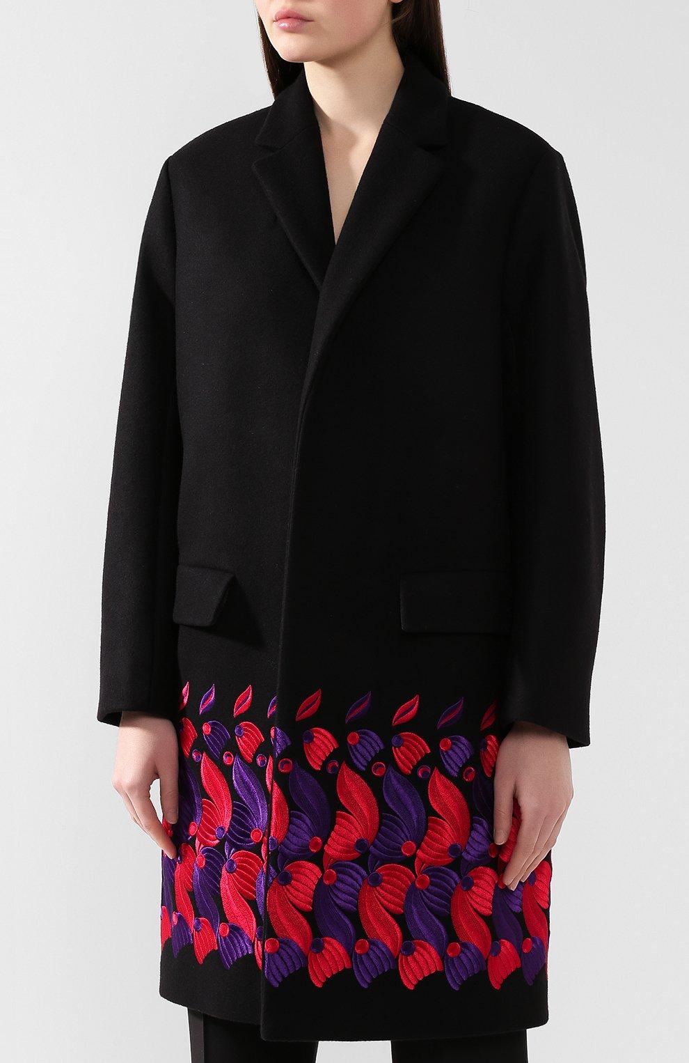 Женское шерстяное пальто DRIES VAN NOTEN черного цвета, арт. 192-30276-8211 | Фото 3