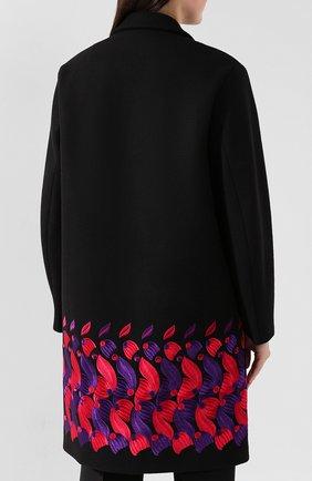 Женское шерстяное пальто DRIES VAN NOTEN черного цвета, арт. 192-30276-8211 | Фото 4