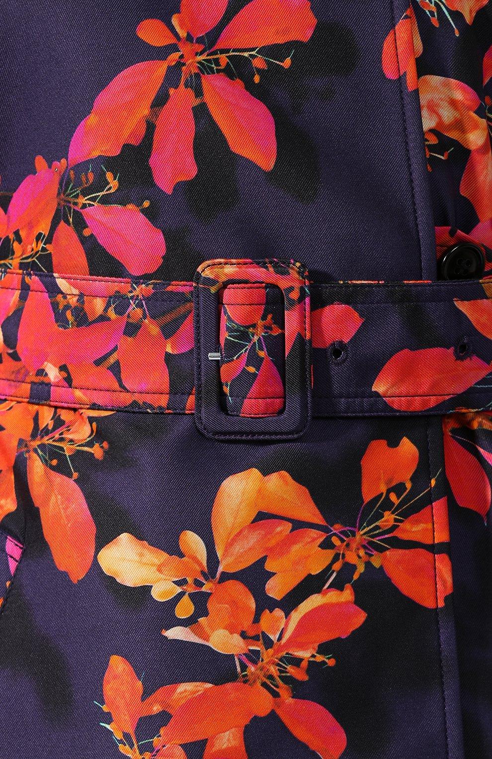 Женский плащ с принтом DRIES VAN NOTEN фиолетового цвета, арт. 192-30216-8425 | Фото 5