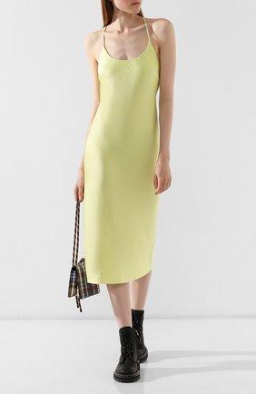 Женское платье ALEXANDERWANG.T желтого цвета, арт. 4WC2196005 | Фото 2