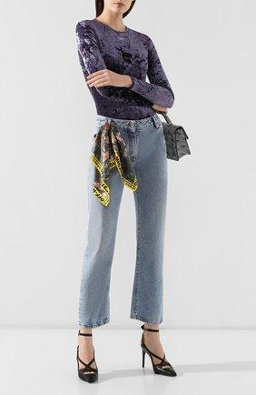 Женские джинсы OFF-WHITE голубого цвета, арт. 0WYA004E197730778700 | Фото 2