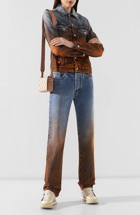 Женские джинсы OFF-WHITE синего цвета, арт. 0WYA001E1977308987B4 | Фото 2