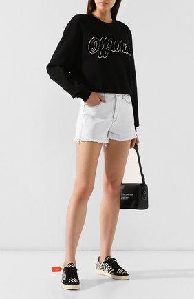Женская хлопковый свитшот OFF-WHITE черного цвета, арт. 0WBA026E19F300941001 | Фото 2
