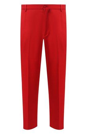 Мужской шерстяные брюки GUCCI красного цвета, арт. 568670/Z570J | Фото 1